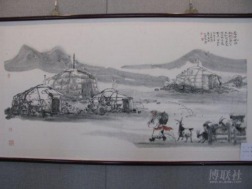 《蒙古风情》                       张东林  绘